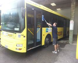 Clearshield is being used to restore & protect 1800 buses from the GoBus Fleet in New Zealand. See Pete Wavish hard at work on one of the fleet!