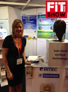 Deborah-Beeley-Ritec's-Business-Development-Executive-with-their-ClearShield-demonstration-mechanism-at-this-year's-FIT-Show.-768x1024