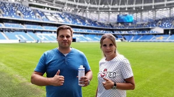 Vadim Derbenev (CEO) and Yuliya Derbeneva (Commercial Manager)