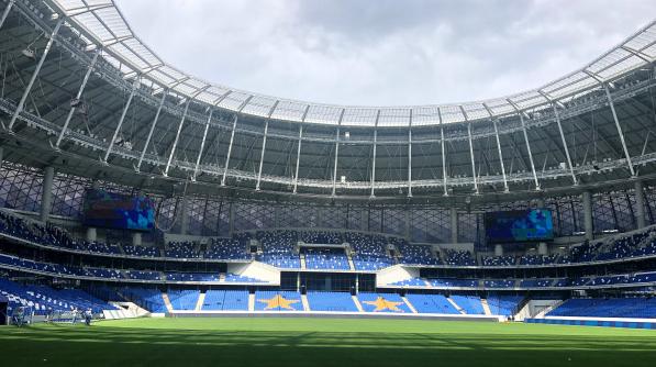 Inside the Lev Yashin Dynamo Central Stadium